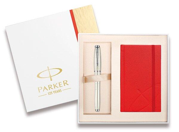 Parker Urban Premium Pearl CT sada se zápisníkem