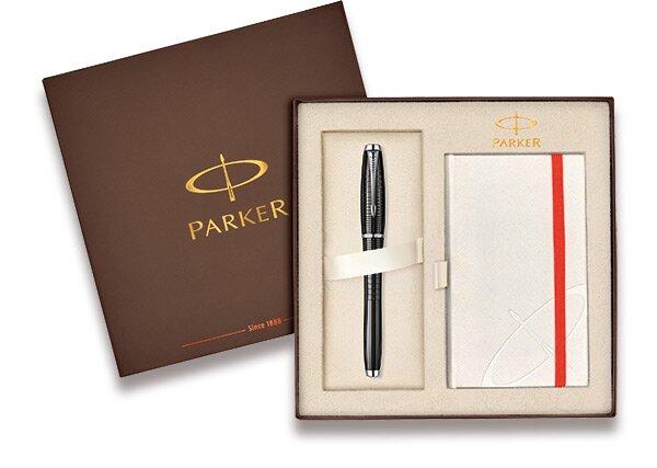 Parker Urban Premium Ebony Black CT sada se zápisníkem