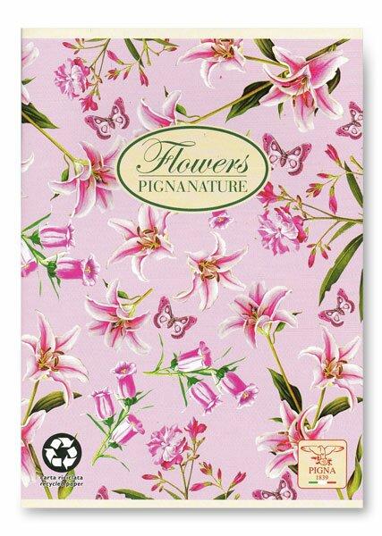 Školní sešit Pigna Nature Flowers - lilie A5, linkovaný, 40 listů