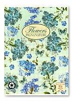 Školní sešit Pigna Nature Flowers - modré květy
