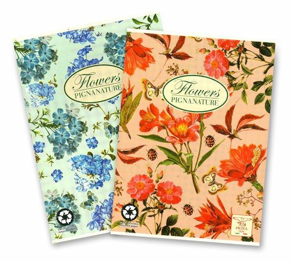 Školní sešit Pigna Nature Flowers A5, linkovaný, 40 listů, mix motivů