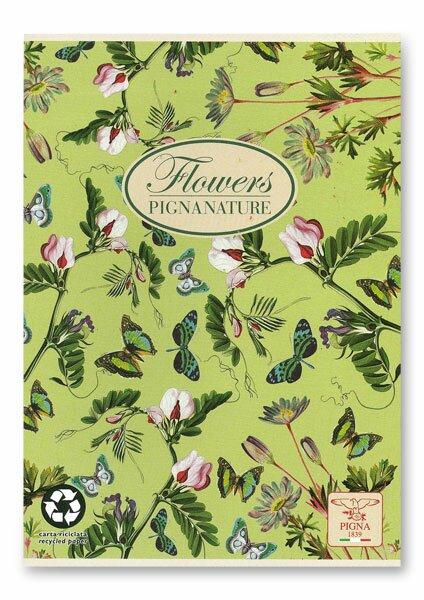 Školní sešit Pigna Nature Flowers - motýlci A5, linkovaný, 40 listů