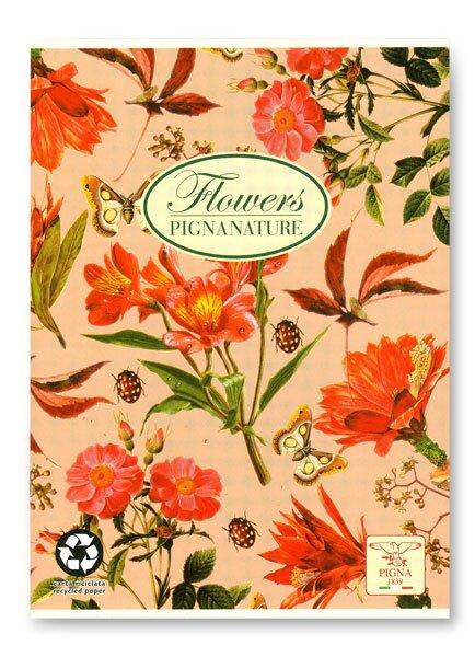 Školní sešit Pigna Nature Flowers - šípek A5, linkovaný, 40 listů
