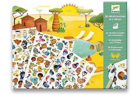 Obrázek produktu Sada Djeco s protlačovacími obrázky - Savana
