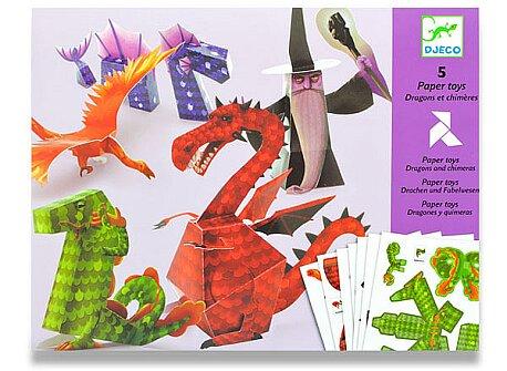 Obrázek produktu Origami skládačka Djeco - Draci