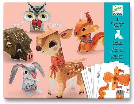 Obrázek produktu Origami skládačka Djeco - Zvířata