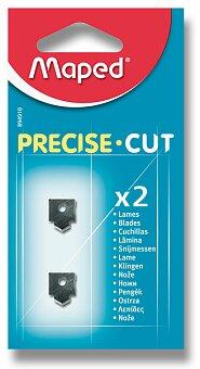 Obrázek produktu Náhradní břity pro řezačku Maped Precise Cut - 2 ks břitů, přímý řez