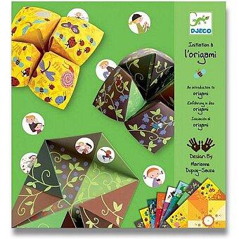 Obrázek produktu Origami skládačka Djeco - Nebe, peklo, ráj - zelená sada
