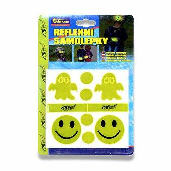 Obrázek produktu Set reflexních samolepek - žluté, 10 ks