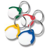 Přívěšek na klíče s plastovým žetonem, výběr barev
