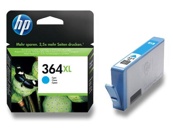 Cartridge HP CB323EE č. 364 XL pro inkoustové tiskárny cyan (modrý)