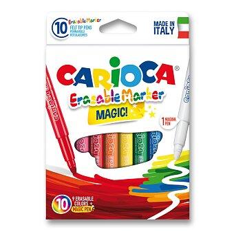Obrázek produktu Dětské fixy Carioca Erasable - 9 barev + zmizík