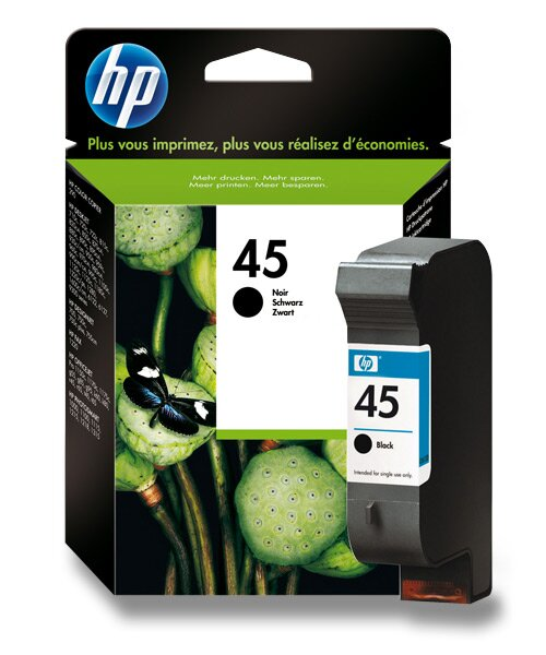 Cartridge HP 51645A č. 45 pro inkoustové tiskárny black (černý)