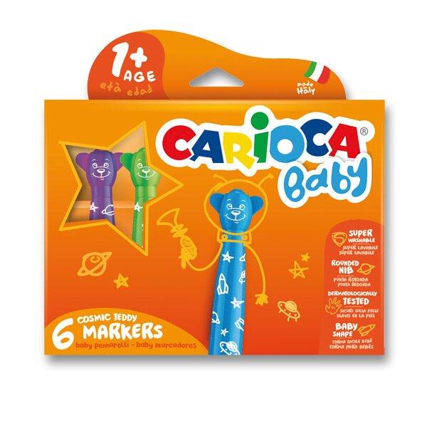 Dětské fixy Carioca Baby Teddy Marker 6 barev