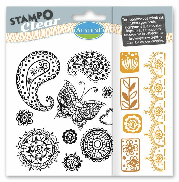 Razítka gelová StampoClear - Doodlingové vzory
