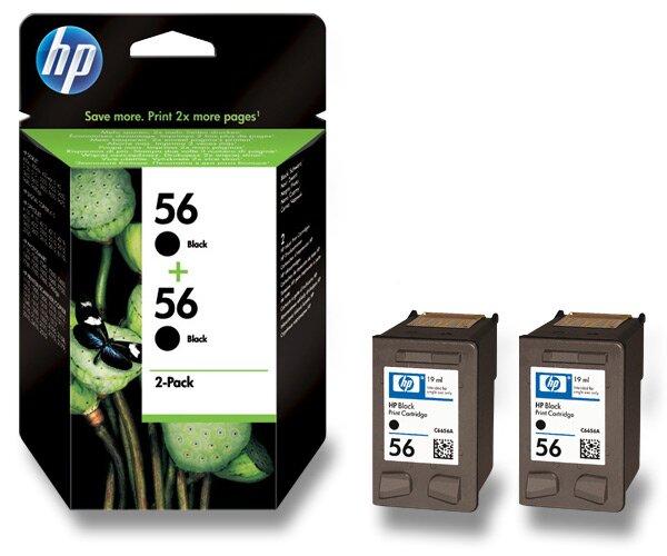 2x cartridge HP C6656A č. 56 pro inkoustové tiskárny black (černý)