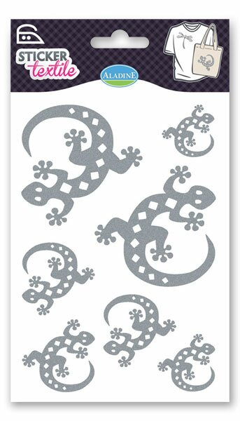 Nažehlovací nálepky na textil - Ještěrky glitrové
