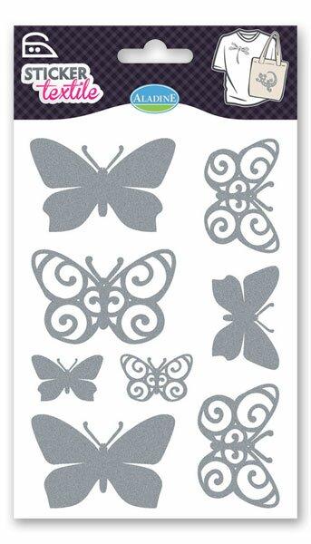 Nažehlovací nálepky na textil - Motýlci glitroví