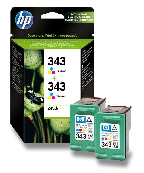 2x cartridge HP C8766EE - color č. 343 (barevná) pro inkoustové tiskárny barevná