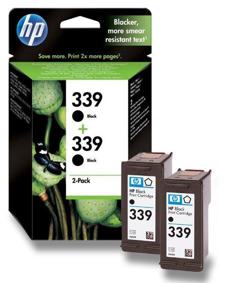 2x cartridge HP C8767EE č. 339 pro inkoustové tiskárny black (černý)