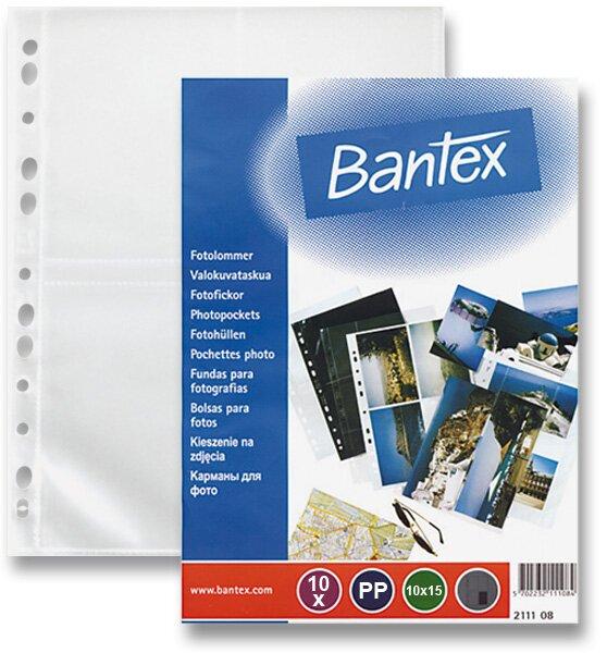 Závěsný zakládací obal na fotografie Bantex A4, na foto 10 x 15 cm, 10 ks