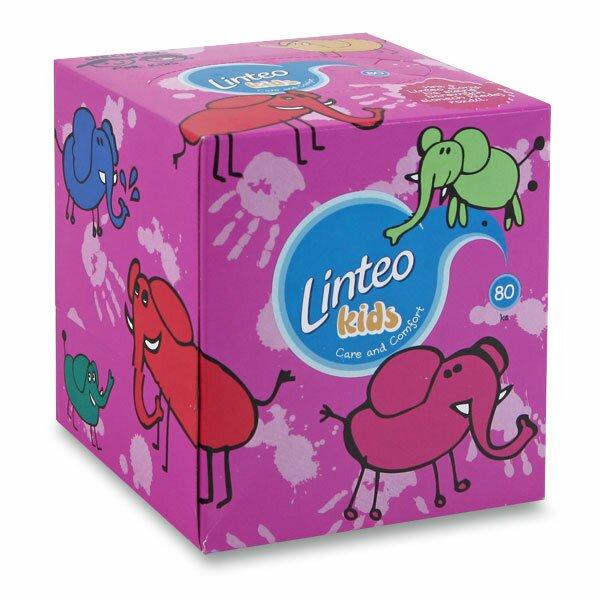 Kapesníky papírové Linteo Kids 2-vrstvé, 80 ks v kostce