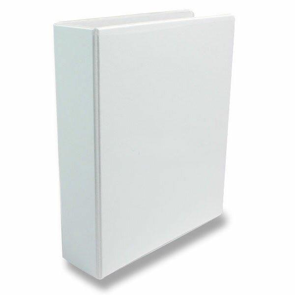 4-kroužkový pořadač Esselte plast, A4, 77 mm, bílý