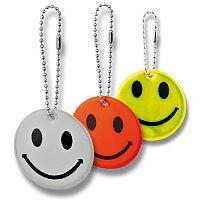Smiley - reflexní přívěšek, výběr barev