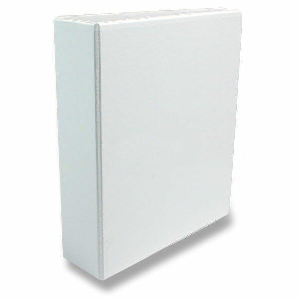4-kroužkový pořadač Esselte plast, A4, 86 mm, bílý
