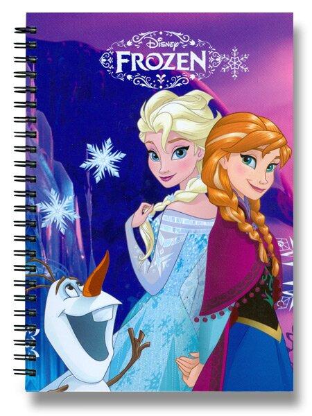 Kroužkový blok Frozen A5, linkovaný, 140 stran