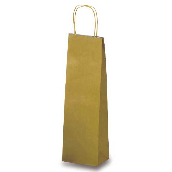 Papírová taška na víno Allegra zlatá