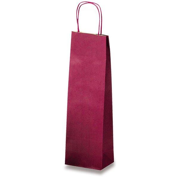 Papírová taška na víno Allegra tm. červená