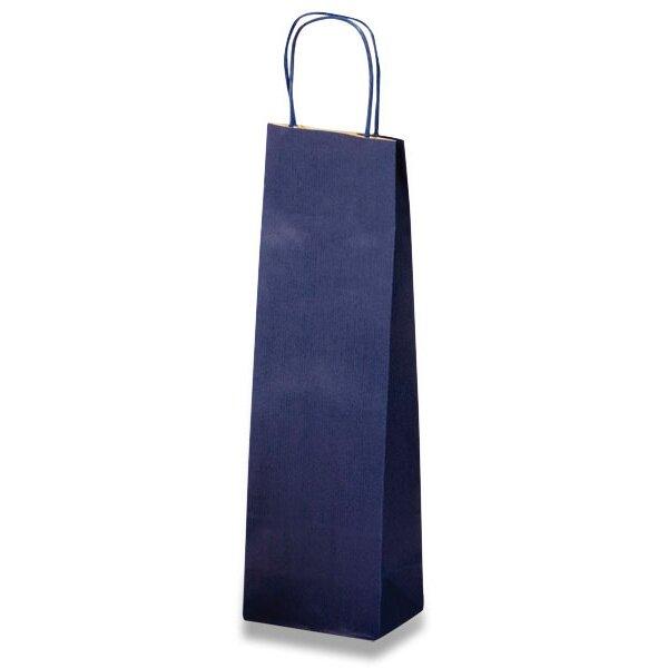 Papírová taška na víno Allegra modrá