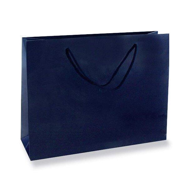Střední papírová taška Hart s laminem modrá