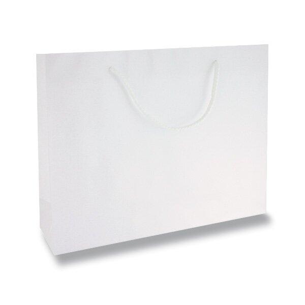 Střední papírová taška Hart s laminem bílá