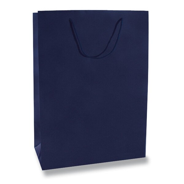 Velká papírová taška Hart s laminem modrá