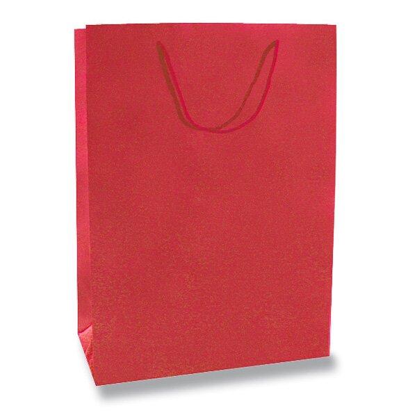 Velká papírová taška Hart s laminem červená