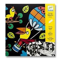 Sametové malování Djeco - Ptáčci