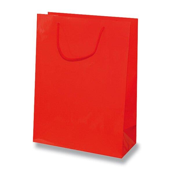 Malá papírová taška Hart s laminem červená
