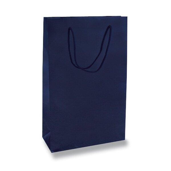 Malá papírová taška Hart s laminem modrá