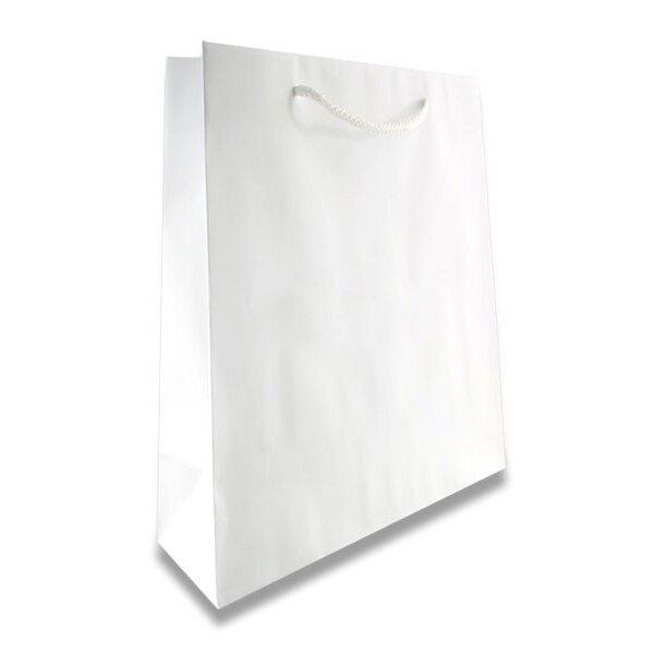 Malá papírová taška Hart s laminem bílá