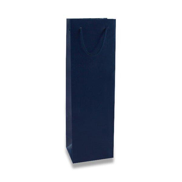 Papírová taška na láhev Hart s laminem modrá