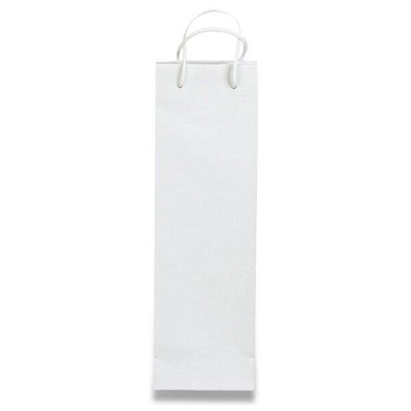 Papírová taška na láhev Hart s laminem bílá