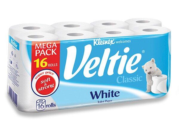 Toaletní papír Veltie Kleenex Classic 2 - vrstvý, 144 útržků, 16 ks