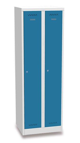 Šatní skříň BAS 32A modrošedá