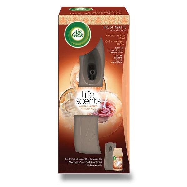 Automatický osvěžovač vzduchu Air Wick Life Scents vůně vanilkového pečiva, strojek + náplň