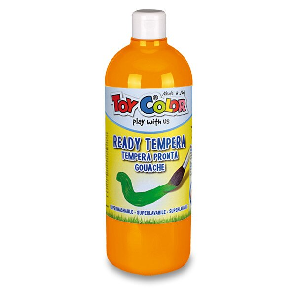 Temperová barva Ready Tempera - 1000 ml oranžová