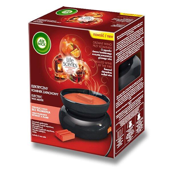 Osvěžovač keramický ohřívač AirWick Wax Melt ohřívač + 3 ks vosku Svařené víno