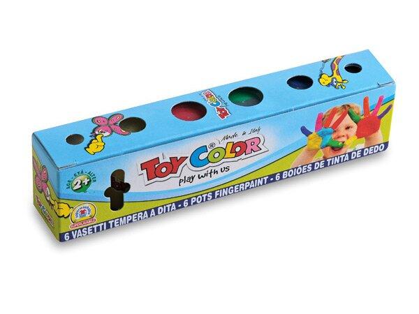 Prstové barvy Toy Color 6 barev, 25 ml