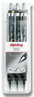 Obrázek produktu Sada mechanických tužek Rotring Tikky Black - hrot 0,35, 0,5 a 0,7 mm
